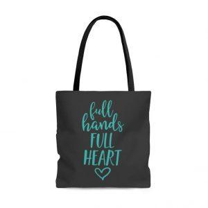 full hands full heart tote bag the faithful merchant mom gifts